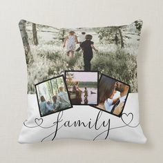4 Photo Collage Family Typography Personalized Throw Pillow - tap, personalize, buy right now! #ThrowPillow #ricaso, #design #your #own, #create Custom Pillows, Decorative Throw Pillows, Throw Cushions, Couch Pillows, Accent Pillows, Collages, Instagram Collage, Photo Pillows, Photos Du
