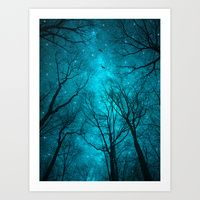 Art Print featuring Stars Can't Shine Without Darkness  by Soaring Anchor Desig…