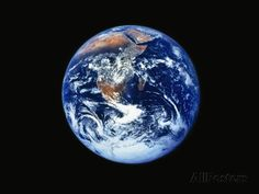 Earth from Outer Space Photographic Print by L. Clarke at AllPosters.com