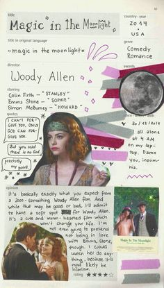 magic in the moonlight – woody allen magic in the moonlight – woody allen Moonrise Kingdom, Movie List, Movie Tv, Magic In The Moonlight, Critique Cinema, Movie Collage, Film Studies, Journal Aesthetic, Aesthetic Movies