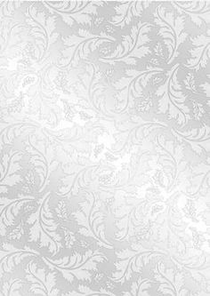 Silver on Craftsuprint designed by Judith Mary Howells - Metallic effect silver background paper with leaf pattern in jpg format. - Now available for download!