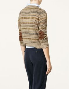 fair isle sweater with elbow patches- So utterly happy I actually own this!