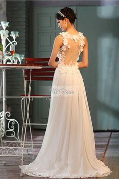 Glamorous A-line Straps Floor Length Wedding Dress : Tbdress.com