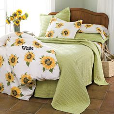 The Company Store: Sienna Percale sunflower bedding.