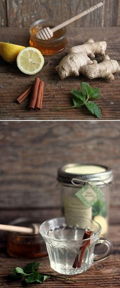 Sore Throat Remedy: lemon, mint, ginger, cinnamon and honey in boiling water- great 'get well soon' gift! Health Diet, Health And Nutrition, Health And Wellness, Nutrition Chart, Health Shop, Health Facts, Healthy Work Snacks, Healthy Dinner Recipes, Healthy Eating