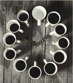 The perfect way to measure time....in cups!