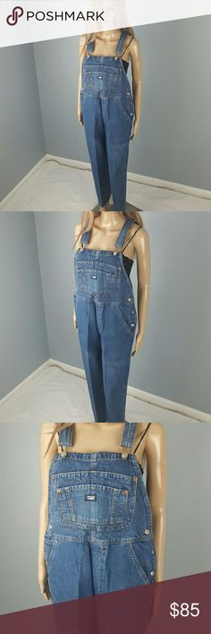 "Vintage Jordache Denim Overalls Medium M Classic vintage overalls with the original dry cleaning and starched up vintage look.  Brand: Jordache Size: Medium  Measurements  Bust: open  Waist: 36"" Hips: 42.5"" Inseam: 30"" Rise: 11.5""  Condition: Excellent vintage condition Jordache Jeans Overalls"