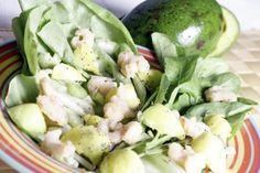 Salada de Camarão e Abacate