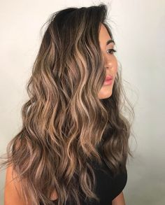 Golden Brown Balayage - 20 Best Golden Brown Hair Ideas to Choose From - The Trending Hairstyle Brown Hair Balayage, Brown Blonde Hair, Light Brown Hair, Brunette Hair, Hair Highlights, Dark Hair, Blonde Honey, Bayalage, Color Highlights