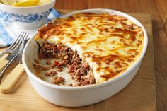 Classic moussaka - it turned out well but I'm still not a big eggplant fan.