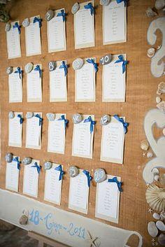 Wedding Tableau  Tableau Marriage Sea Tableau Ideas #wedding #weddingtableau #Seatableau #weddingtableauideas http://elisaweddingdream.blogspot.it/2011/09/real-weddings-daniela-alessio.html