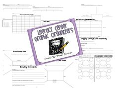 Primary Punch-literacy center graphic organizers