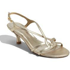 $325.00 Stuart Weitzman 'Reversal' Sandal Gold Supple Kid 10.5 M