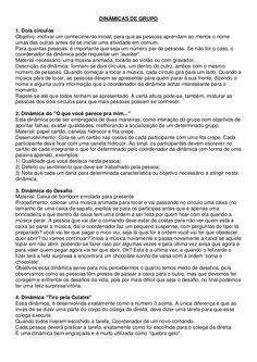 110 DINÂMICAS DE GRUPO