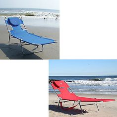 Chaise Beach Lounge Folding Chair Pool Patio Outdoor Recliner Portable Furniture