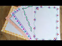 Project File Pages Decoration Border Designs For School Project