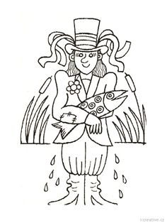 vodník omalovánka - Hledat Googlem Underwater, Coloring Pages, Scary, Creatures, Horses, Quote Coloring Pages, Under The Water, Im Scared, Kids Coloring