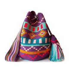 These double thread small mochila bag are perfect for carrying around a few items such as your phone, wallet and a few other necessities.
