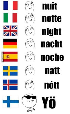 Because Finnish is not an Indoeuropean language, just like Hungarian. Funny Relatable Memes, Funny Posts, Learn Finnish, Rage Comic, Finnish Language, Learn A New Language, Hetalia, Funny Pictures, Fandoms