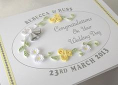 Paper quilling wedding card by PaperDaisyCardDesign on Etsy, £7.20