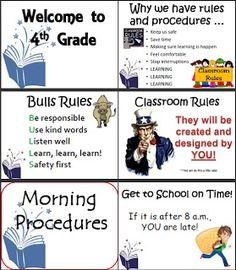Make a beginning of the year powerpoint of procedures and expectations (work through it the first week of school).