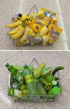 Groceries shopped by colour of object... (more on website in link)