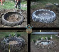 GREAT  IDEA  for the tractor tire in our back yard!