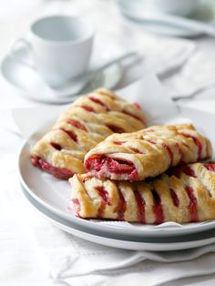 Homemade strawberry danish