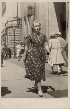 A wonderfully stylish young woman on the streets of East Vancouver, 1936.