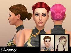 Clowns Hair at Mikerashi via Sims 4 Updates Check more at http://sims4updates.net/hairstyles/clowns-hair-at-mikerashi/