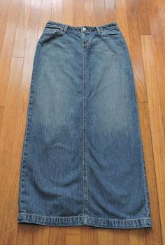 BKE Denim Castaway Long Blue Jean Skirt Size 27 #BKEDenim #StraightPencil