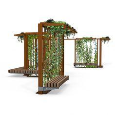 Landscape Elements, Landscape Architecture Design, Concept Architecture, Urban Furniture, Street Furniture, Beaux Arts Lyon, Public Space Design, Public Seating, Shade Structure
