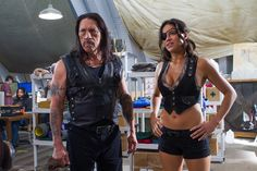 Danny Trejo and Michelle Rodriguez - Machete Kills