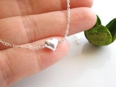 Dainty  Heart 925 Sterling Silver Necklace - Everyday Jewelry - All 925 Sterling Silver