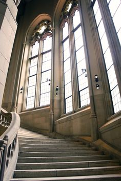 The great stairway leading to the Suzzallo reading room! #youW Photo by McKenna Princing