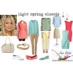 A fashion look from January 2015 featuring roland mouret dress, red structured dress and crewneck cardigan. Browse and shop related looks. Light Spring Palette, Spring Color Palette, Spring Colors, Bright Spring, Warm Spring, Anne Klein, Uniqlo, Keds, Hot Girls