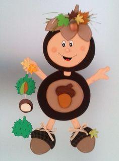 The post Fensterbild – Kastanie – Herbst- Dekoration – Tonkarton! appeared first on Dekoration. 3d Paper Crafts, Craft Stick Crafts, Diy And Crafts, Crafts For Kids, Arts And Crafts, Autumn Crafts, Autumn Art, Holiday Crafts, Autumn Activities For Kids