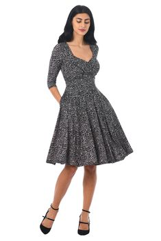 09015b65cab Floral lace print knit sweetheart dress. High Fashion ...