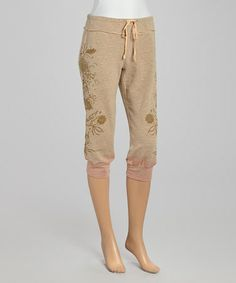 Look what I found on #zulily! Tan Palpe Cropped Pants by Da-Nang #zulilyfinds