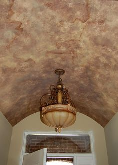Love this faux for the ceiling. Perhaps in our master or dining room
