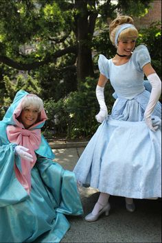 The Fairy Godmother warns Cindy to be SURE to drop a shoe when she flees if she wants that boy to be able to find her. <3