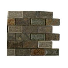 5167fdf8ea Ivy Hill Tile Roman Selection Emperial Slate 3 in. x 6 in. x 8 mm Mixed  Materials Floor and Wall Tile Sample-R4B3 BACKSPLASH TILE - The Home Depot