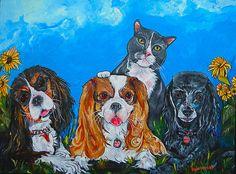 The Woof Gang Print by Patti Schermerhorn