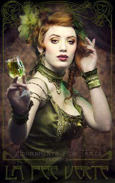 la fee verte by silvergrey. The Green Fairy.