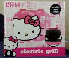 Hello Kitty Cute Electric Pink Indoor Grill George Foreman Style Brand New | eBay