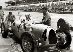 "thesecretring: ""Bernd Rosemeyer, Auto Union Type C, 1936 German Grand Prix, Nürburgring. """