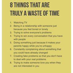 Not watching tv!