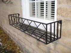 49 Ideas for exterior window decor planter boxes - Modern Wrought Iron Window Boxes, Metal Window Boxes, Window Box Flowers, Window Planter Boxes, Window Plants, Iron Windows, Garden Windows, House Front, Planters