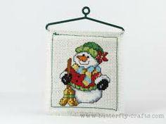 snowmen cross stitch - Google Search