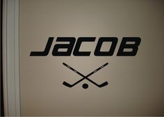 Hockey name wall decal-except spelt the right way